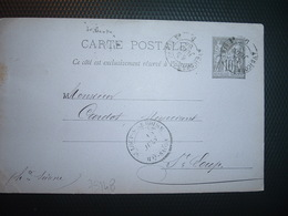 CP EP SAGE 10 OBL. AMBULANT DE NUIT 14 JUIN 84 AVRICOURT A PARIS 2° D + PRODUITS CHIMIQUES SOLVAY & Cie VARANGEVILLE (54 - Marcofilie (Brieven)