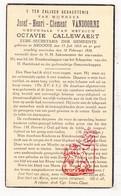 DP Gemeentesecretaris Josef H. Vandoorne ° Ardooie 1865 † 1938 X O. Callewaert - Images Religieuses
