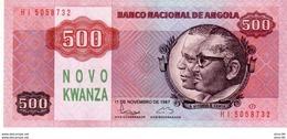 Angola P.123   500 Kwanzas 1987   Unc - Angola