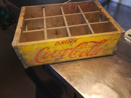 Coca Cola Oude Originele Krat Van 12 Zeldzaam - Coca-Cola