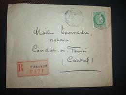 LR TP CERES 2F50 OBL. Perlée 22-6 39 ST AMANDIN CANTAL (15) - Poststempel (Briefe)