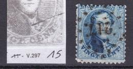 N° 15 : VARIETE 297 GRIFFE SUR LE JABOT - 1863-1864 Médaillons (13/16)