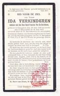 DP Ida Verkinderen ° Kanegem Tielt 1840 † Ruiselede 1925 X Karel F. Vande Kerckhove - Images Religieuses