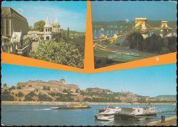 """Ungarn - Budapest - Pictures - Lastkahn - Nice Stamp """"coin"""" - Ungarn"""