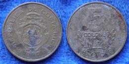 COSTA RICA - 5 Colones 1995 KM# 227 Monetary Reform (1920) - Edelweiss Coins - Costa Rica