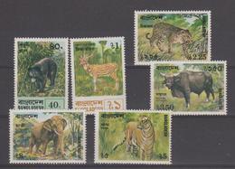 Bangladesh 1977 Animaux Série 101-106 6 Val ** MNH - Bangladesh