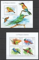WW336 2013 TOGO TOGOLAISE FAUNA BEE-EATERS BIRDS LES MANGEURS D'ABEILLES KB+BL MNH - Oiseaux