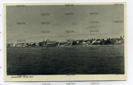 Zanzibar Tanzania From The Sea 1910s-1930s Postcard By AC Gomes Muscat Oman Sultan - Tanzania