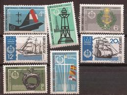 Uruguay - Fx. 3284 - Yv. 770/2 + Ae. 341/4 - 150º Aniversario De La Marina Uruguaya - ** - Uruguay