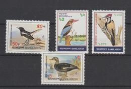 Bangladesh 1983 Oiseaux Série 183-186 4 Val ** MNH - Bangladesh
