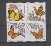 Bangladesh 1990 Papillons Série 327-330 4 Val ** MNH - Bangladesh