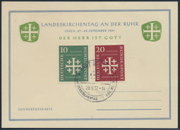 Bund Sonderpostkarte 235-6 SST Essen Kirchentag Gott Kirche Glaube Religion - [7] République Fédérale