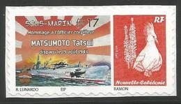 NOUVELLE CALEDONIE (New Caledonia)-  Timbre Personnalisé - Sous-marin - Hommage Matsumoto - Lunardo (2015) - Nouvelle-Calédonie