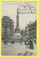 * Brussel - Bruxelles - Brussels * Monument Anspach, Animée, Fontaine, Statue, Landau, Kinderwagen, Rare, Old - Bruxelles-ville
