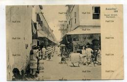 Zanzibar Tanzania Bazar Street Darajani 1900s Postcardby Pereira De Lord Bros Muscat Oman Sultan Undivided Back - Tanzania