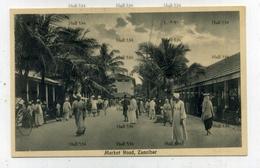 Zanzibar Tanzania Market Road 1900s Postcard By JB Coutinho Muscat Oman Sultan - Tanzania