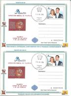 SPAIN ESPAÑA 2004 DOUBLE STATIONERY (WITH REPLY PAID) FAMILIA REAL ROYAL FAMILY - Enteros Postales