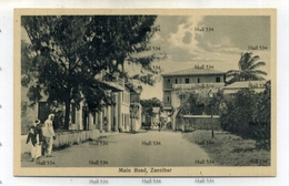 Zanzibar Tanzania Main Road 1900s Postcard By JB Coutinho Muscat Oman Sultan - Tanzania