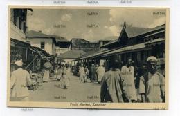 Zanzibar Tanzania Fruit Market 1900s Postcard By JB Coutinho Muscat Oman Sultan - Tanzania