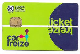 Car Treize. Ticket Treize. (Voir Commentaire) - Bus