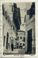 Zanzibar Tanzania Main Road 1950s Postcard By Capital Art Studio Muscat Oman Sultan - Tanzania