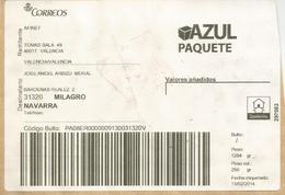 ESPAÑA ETIQUETA LABEL PAQUETE AZUL VALENCIA - 1931-Hoy: 2ª República - ... Juan Carlos I