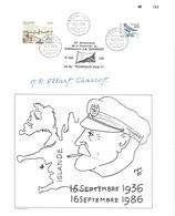 YT 608 Et 521 - Doument Célébrant Les 50 Ans De La Disparition Du Commandant JB Charcot - Lettres & Documents