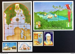 British Virgin Islands 1992** Mi.766-69,bl.75,bl.76 Columbus' Exploration [20;27] - Christopher Columbus