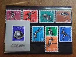 JUGOSLAVIA - Europei Di Atletica Belgrado 1962 - Serie + BF Nuovi ** + Spese Postali - 1945-1992 Socialist Federal Republic Of Yugoslavia