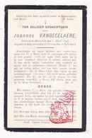 DP Joannes VanBecelaere ° Moorslede 1843 † Proven Poperinge 1912 - Images Religieuses