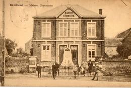 Belgique. CPA. REMICOURT  Maison Commune. Statue. 1924. Scan Du Verso. - Remicourt