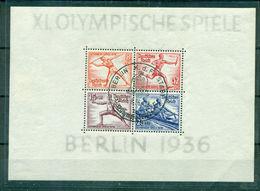 Deutsches Reich, Olympische Spiele 1936, Block 6 Sonderstempel - Gebraucht