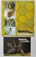 Canouan 2011** Klb.221-24, Bl.21. Insects Of The Caribbean MNH [10;46,121] - Insects