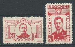 INDOCHINE 1943/44 . N°s 274 Et 275 . Neufs (*) Sans Gomme. - Indochine (1889-1945)