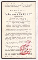 DP Ludovicus Van Praet ° Merchtem 1869 † 1941 X J. Van Buggenhout - Images Religieuses