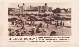 "CPSM Publicitaire  ROYAN  17 :   Le ""GOLF HOTEL""  Pontaillac - Royan"