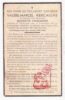 DP Valère M. Vercaigne 27j. ° Wevelgem 1919 † Menen 1947 X Jeanette VanDamme - Images Religieuses