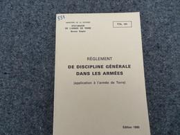 Règlement De Discipline Générale Dans Les Armées - 338/09 - Livres, BD, Revues