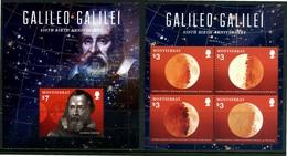 MONTSERRAT 2014** - Astronomia - Galileo Galilei - Mniblock + Block Di 4 Val. MNH, Come Da Scansione - Astronomia