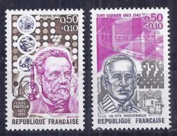 Francia 1973. YT = 1768-69 - Nuevos Sin Fijasellos (**). Celebridades - France