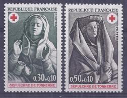 Francia 1973. YT = 1779-80 - Nuevos Sin Fijasellos (**). Cruz Roja - France