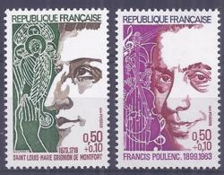 Francia 1974. YT = 1784-85 - Nuevos Sin Fijasellos (**). Celebridades - France