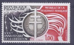 Francia 1974. YT = 1821 - Nuevo Sin Fijasellos (**). Ann De La Liberacion - France