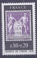 Francia 1976. YT = 1870 - Nuevo Sin Fijasellos (**). Dia Del Sello - France