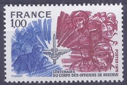France 1976. YT = 1890 - Neuf Sans Charniere (**). Corps Des Officiers De Réserve - France