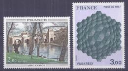 Francia 1977. YT = 1923-4 - Nuevos Sin Fijasellos (**). Obras De Arte - France
