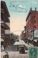 CPA - Huston Street. San Antonio, Texas - 1913- 2scans - San Antonio