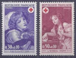 Francia 1971. YT = 1700-01 - Nuevos Sin Fijasellos (**). Cruz Roja - France