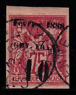 GUYANE - N°  9* - SAGE - VARIETE (Caractères Manquants) - Charnière Légère - Très Belles Marges. - Guyane Française (1886-1949)