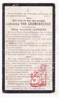 DP Ludovicus Van Cauwenbergh ° Houwaart Tielt-Winge 1849 † 1917 X Marg. L. Janssens - Images Religieuses